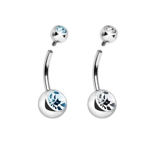 316L Surgical Steel Internally threaded 14 gauge Belly Ring