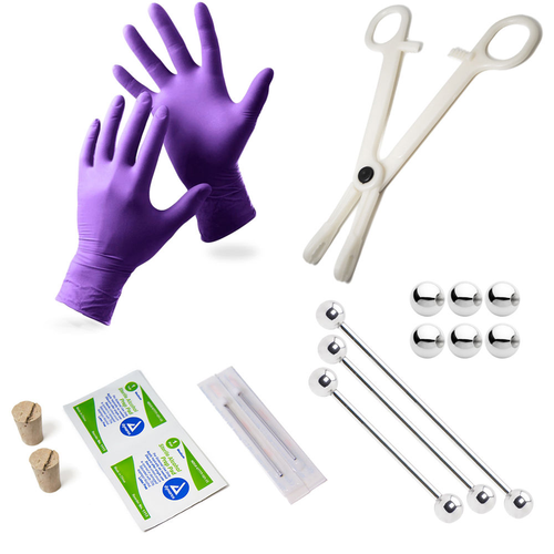 LionGothic Industrial Piercing Kit 17 Pieces