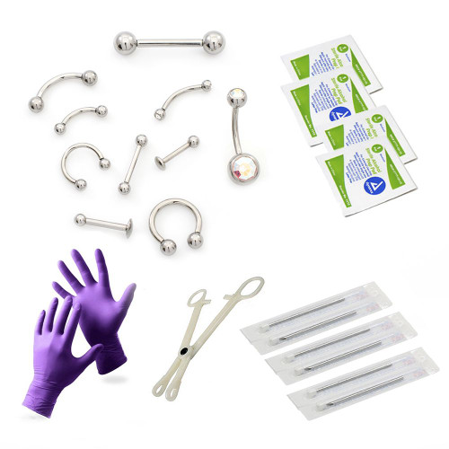 LionGothic Internally Threaded Piercing Kit -22pcs