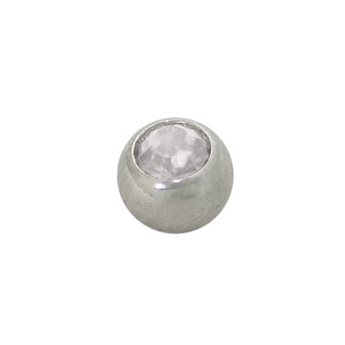 Jeweled Replacement Bead Surgical Steel Threaded