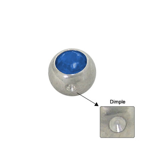 Jeweled Replacement Dimple Bead Surgical Steel - PF855D-B