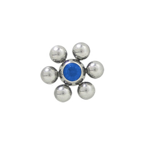 Jeweled Replacement Threaded Bead Flower Shape Surgical Steel