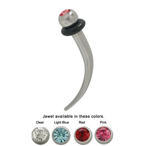 Pair of Steel Ear Stretcher 8GA Jeweled Screw Fit Surgical