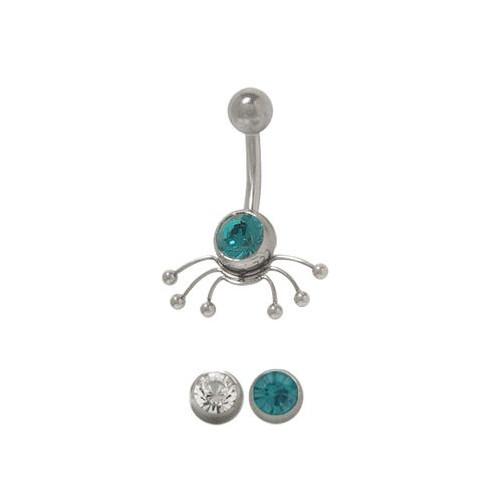 Spider Design 14 gauge Belly Button Ring