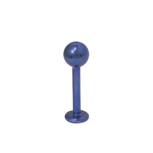 14 gauge Blue Labret Monroe Solid Titanium