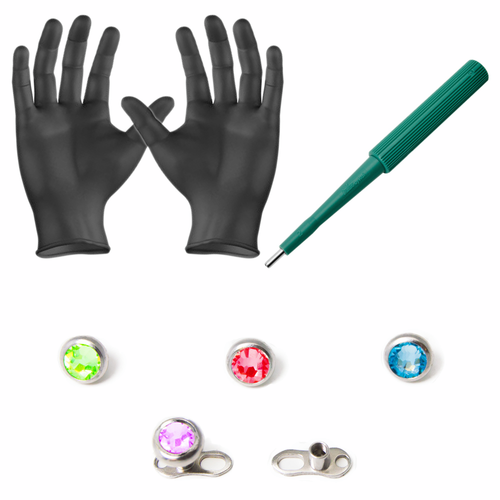 LionGothic Dermal Piercing Kit 8 Pieces
