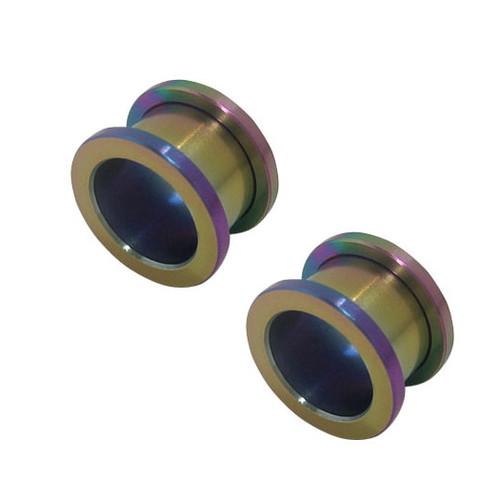 Pair of Anodized Titanium Ear Plugs