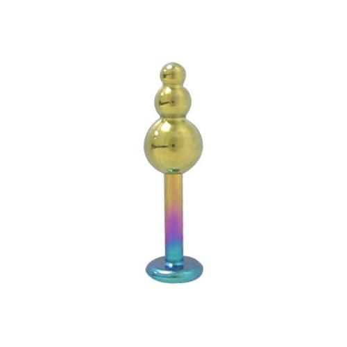 14 gauge Multi Color Solid Titanium Lip Jewelry
