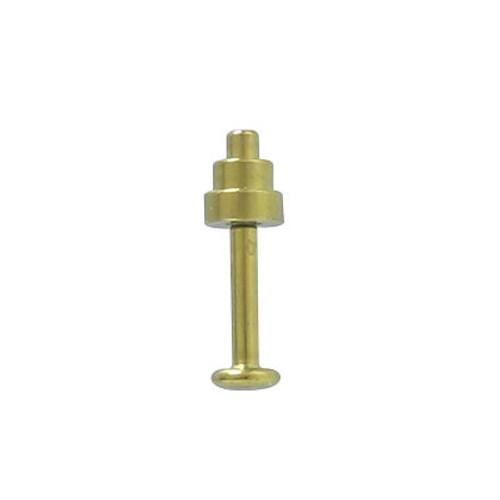 (14g or 16g) Labret Monroe Gold Color Solid Titanium
