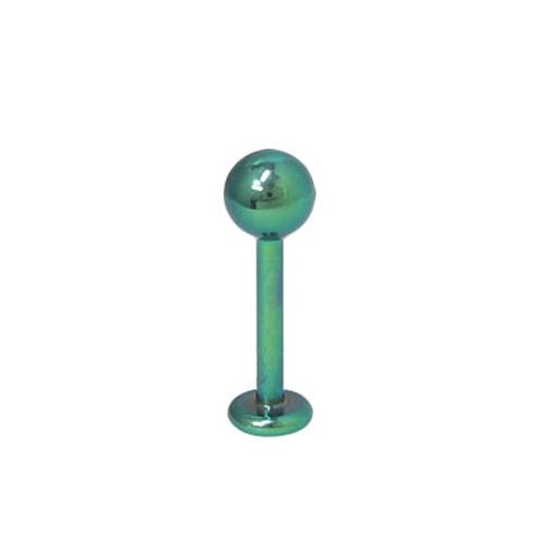 Green 14 gauge Labret Monroe Solid Titanium