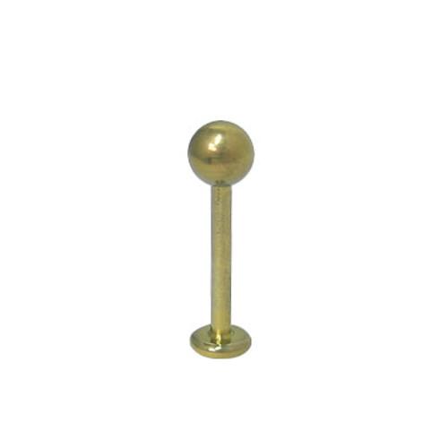 Solid Titanium 14  gauge Gold Color Labret Monroe