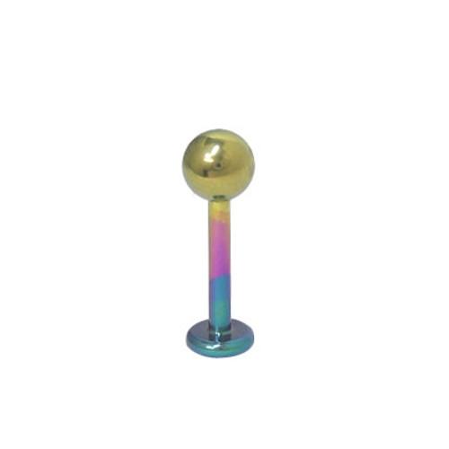 14 gauge Multi Color Labret Monroe Solid Titanium