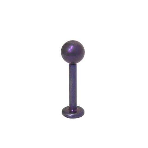 Purple 14 gauge Labret Monroe Solid Titanium