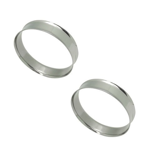 Pair of Large Double Flared Steel Tunnels (22mm up to 50mm)