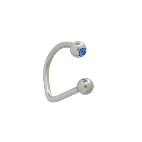 Lippy Loop Jeweled Labret Surgical Steel -