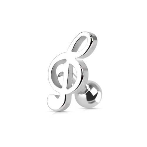 Music Note Steel Tragus