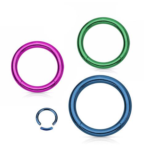 16G Anodized Titanium Segment Ring