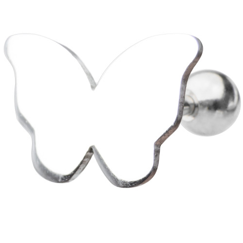 16ga Butterfly Design Cartilage Piercing Barbell