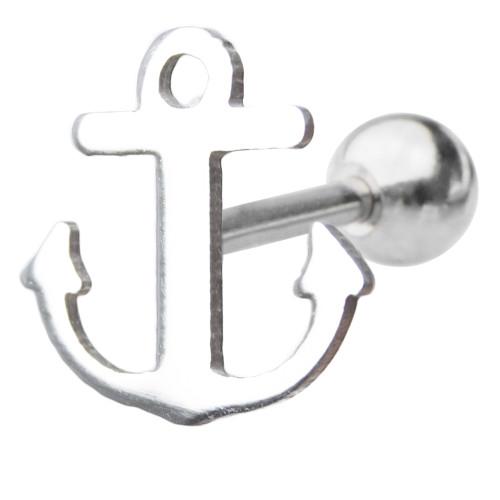 16ga Sea Anchor Design Cartilage Piercing Barbell
