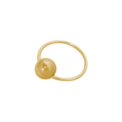 18 Gauge Gold Plated Captive Bead Ring