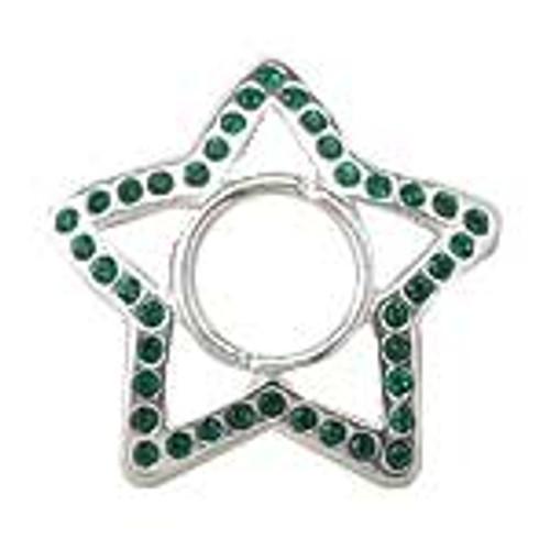 Body jewelry, Nipple shield in CZ and sterling silver design, Nipple shield
