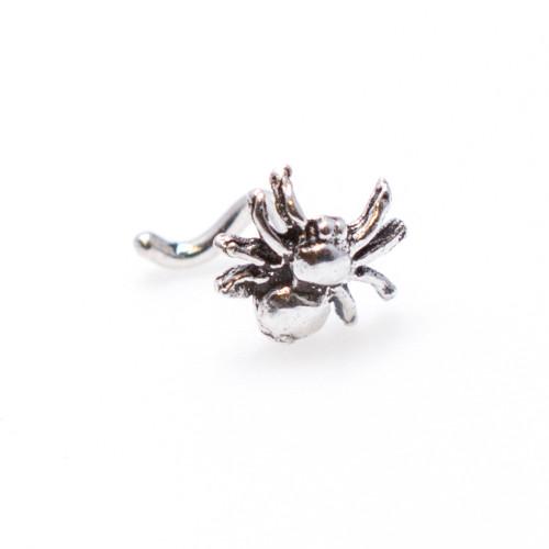Nose Stud .925 Sterling Silver Spider Design