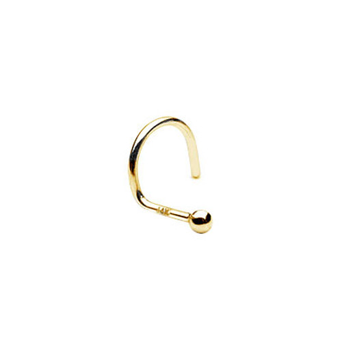 Nose Stud 14k Solid Gold with Ball Head