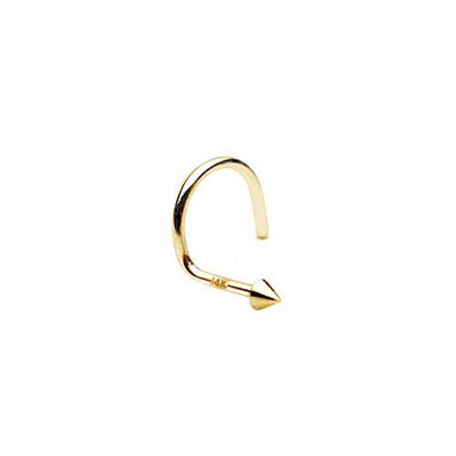 Nose Stud 14k Solid Gold with Cone Shape Head