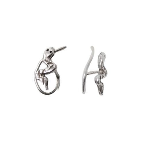 Nose Stud .925 Sterling Silver Snake Design