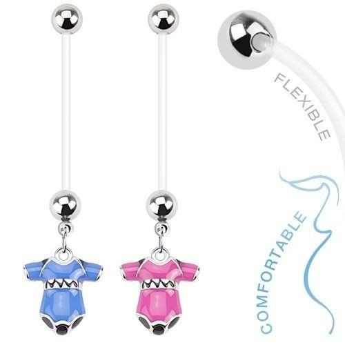14 gauge Maternity Dangle Onesie Belly Ring Boy or Girl