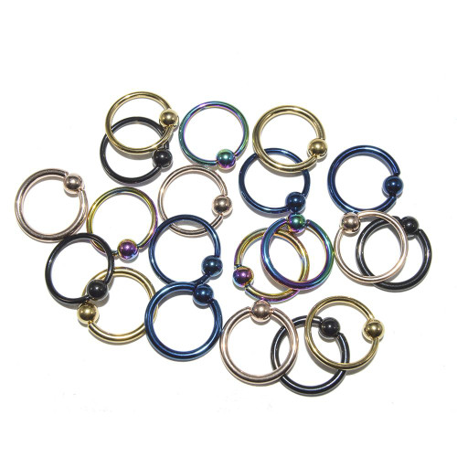 Captive Bead Ring 14g/16g Multi-use Ion Plated