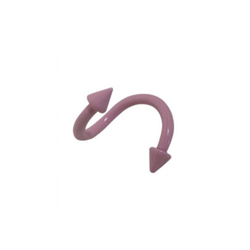 Pink Electro Plated Over Surgical Steel Twister Ring