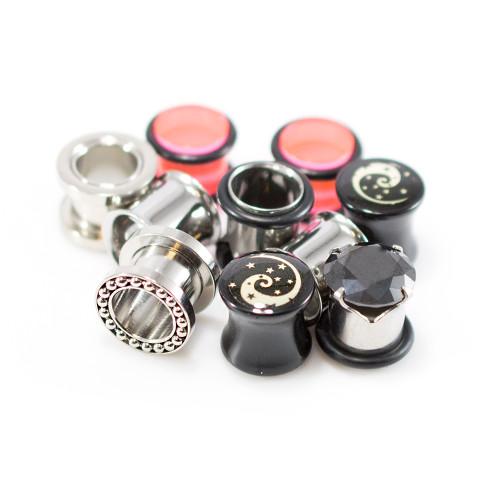 Ear Plugs Jewelry Package of 5 pair Randomly Picked No Duplicates.