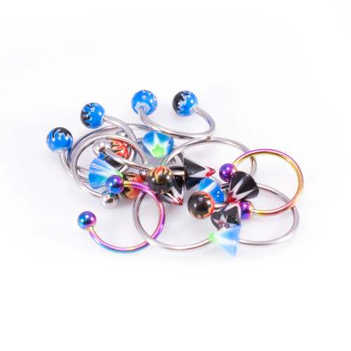 Horseshoe Curved Barbell Jewelry- Randomly Picked- 12 Pack