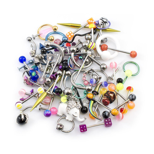 Pack of 15 Body Piercing Jewelry Randomly Picked