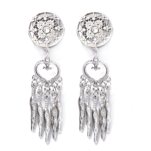 Pair of  Dangling Dream Catcher Screw-Fit Ear Plugs