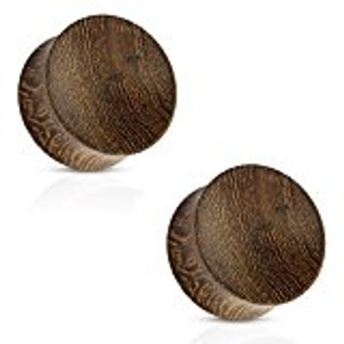 Pair of  Concave Saddle Fit  Snakewood Organic Ear Plugs