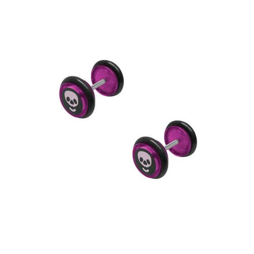 16 gauge Skull Head Ear Plug