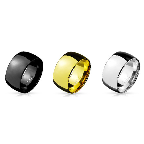 Dome Stainless Steel Wide Band Ring