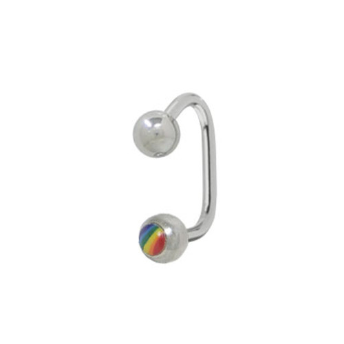 Rainbow Lippy Loop Labret (14 Gauge) -
