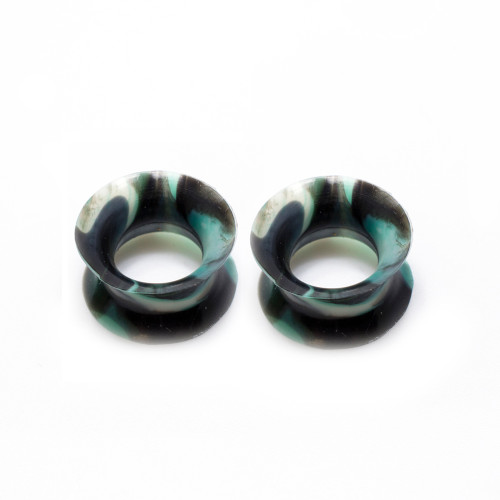 Pair of Thin Silicone Flexible Ear Plugs Camouflage Design