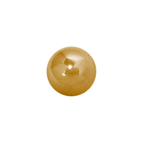 Replacement Threaded Bead 14k Gold Plated