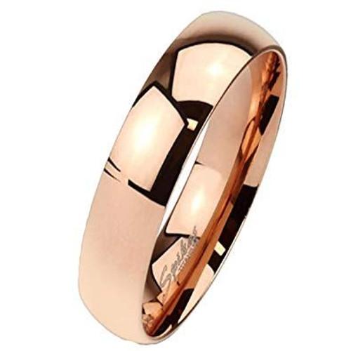 Rose Gold Solid Titanium Ring