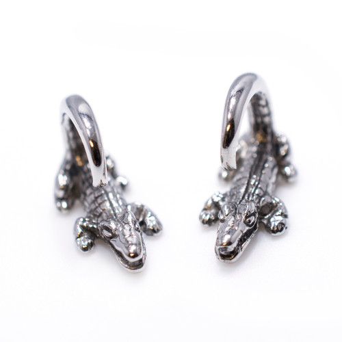 9 Gauge Surgical Steel Crocodile Design Ear Plug