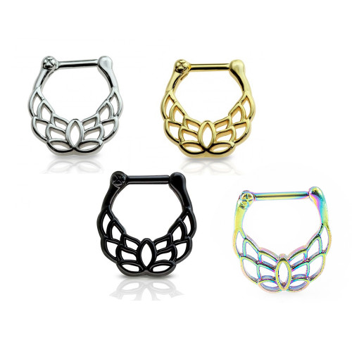 Septum Clicker 16G Unique Design Surgical Steel Anodized