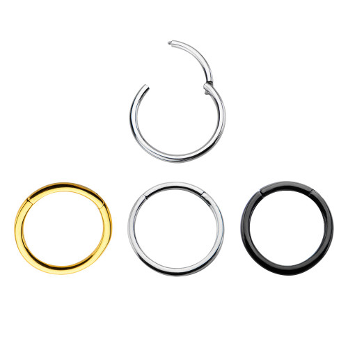 Hinged Segment Ring - Available in 3 Finishes: Natural, Black & 24kt Gold Plated -Sold Each