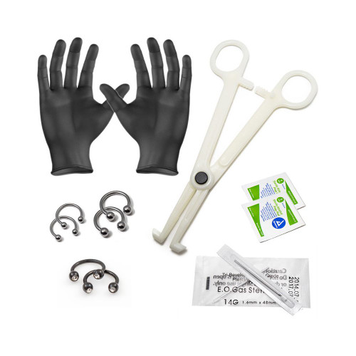 LionGothic 14ga and 16ga Septum Piercing Kit 12 Pieces