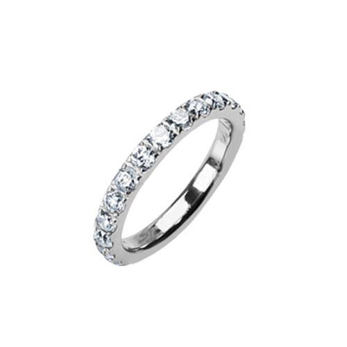 Solid Titanium Jeweled Ring