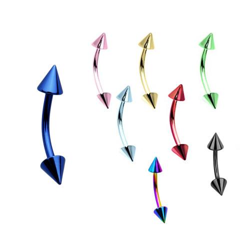 Spike Beads Titanium Neon Rook Earring