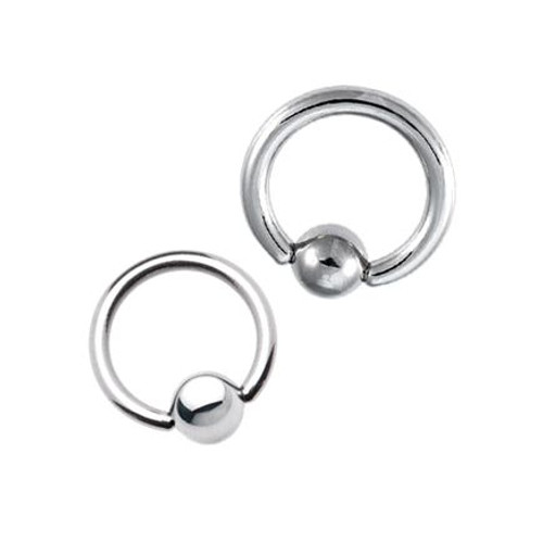 Surgical Steel Ball Closure Ring (4 Gauge)